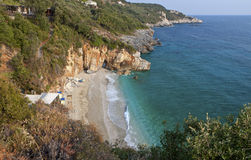 Mylopotamos beach at Pelion in Greece Royalty Free Stock Images