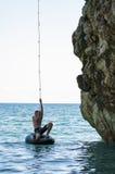 Mylopotamos plaża, Pelio, Grecja Zdjęcia Royalty Free