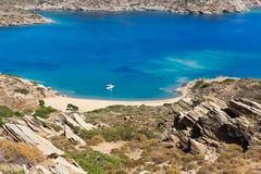 Mylopotas beach, Ios island, Cyclades, Aegean, Greece Stock Photography
