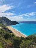 Mylos beach stock image