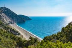 Mylos beach in lefkada, Greece Stock Images