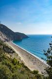 Mylos beach in lefkada, Greece Royalty Free Stock Image