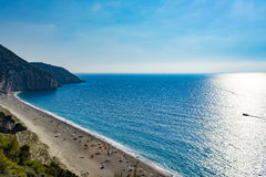 Mylos beach in lefkada, Greece Royalty Free Stock Images