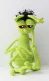 Mymra in sorrow. knitted toy Royalty Free Stock Image
