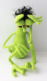 Mymra in sorrow. Sad Toy knitted Royalty Free Stock Photography