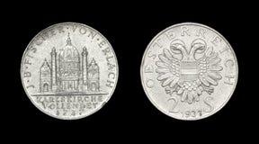 Mynt av Österrike med örnen Arkivfoto