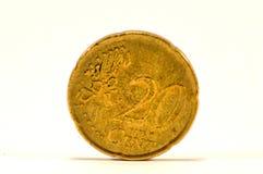 Mynt av cent tjugo av euroet Arkivbild