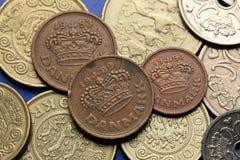 Mynt av Danmark Arkivbilder