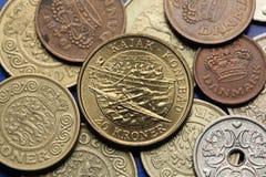 Mynt av Danmark Royaltyfri Foto