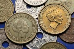Mynt av Danmark Arkivbild