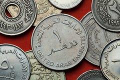 Mynt av Förenadeen Arabemiraten arkivfoto