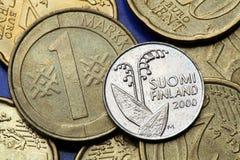 Mynt av Finland Fotografering för Bildbyråer