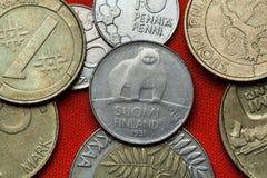 Mynt av Finland Arkivbild