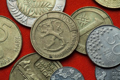 Mynt av Finland Royaltyfri Foto