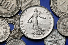 Mynt av Frankrike Royaltyfria Foton