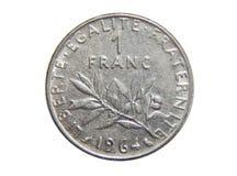 Mynt av Frankrike 1 franc 1964 arkivfoto