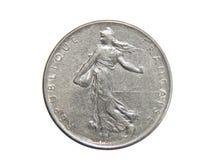 Mynt av Frankrike 1 franc 1964 royaltyfri foto