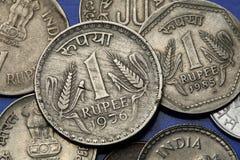Mynt av Indien Arkivfoton
