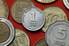 Mynt av Israel arkivbilder