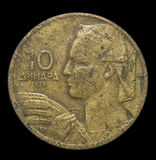 Mynt av 10 jugoslaviska dinar Arkivfoton