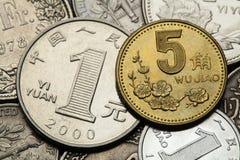 Mynt av Kina Royaltyfri Fotografi