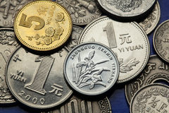 Mynt av Kina Fotografering för Bildbyråer