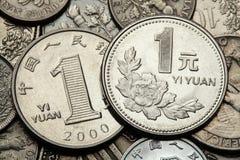Mynt av Kina Arkivbild