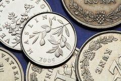 Mynt av Kroatien Royaltyfria Foton