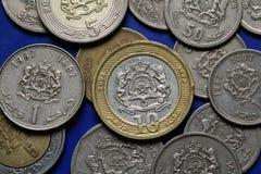 Mynt av Marocko royaltyfria bilder