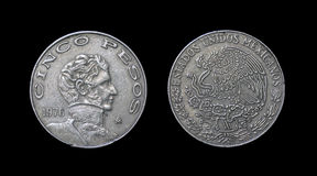 Mynt av Mexico - århundrade XX Royaltyfri Fotografi