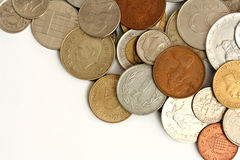Mynt av olik valuta Royaltyfri Fotografi