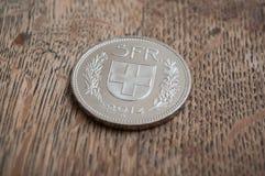 Mynt av Schweiz Royaltyfria Bilder