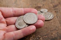 Mynt av Schweiz Arkivfoton