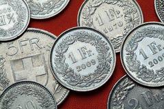 Mynt av Schweiz Royaltyfri Foto