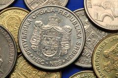 Mynt av Serbien arkivbild