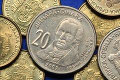 Mynt av Serbien royaltyfri fotografi