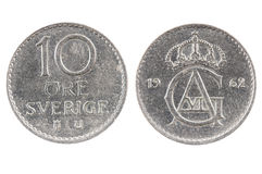 mynt av Sverige fotografering för bildbyråer