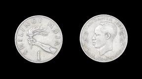 Mynt av Tanzania. Århundrade XX Arkivfoton