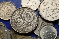 Mynt av Turkiet Royaltyfri Bild