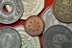 Mynt av Turkmenistan arkivbilder