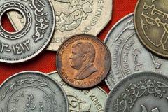 Mynt av Turkmenistan Turkmensk president Saparmurat Niyazov fotografering för bildbyråer