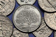 Mynt av USA Statlig fjärdedel för USA 50 Arkivfoton