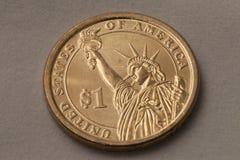 mynt en usd Royaltyfri Bild