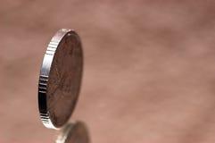 mynt ett Royaltyfri Bild