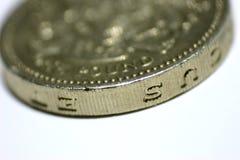 mynt ett pund royaltyfri foto