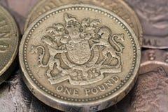 mynt ett pund arkivbilder