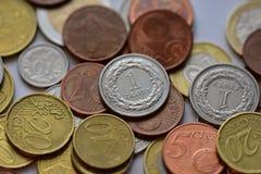 Mynt EUR och PLN Royaltyfri Bild