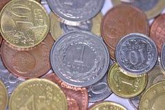 Mynt EUR och PLN Royaltyfria Bilder