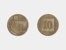 Mynt för agotor Israeli10 Arkivfoton