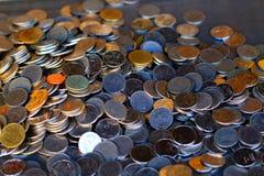 Mynt för baht för Thailand ` s i Rama 9 Arkivfoton